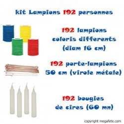 kit lampions multicolores 192 personnes