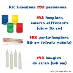 kit lampions multicolores 192 personnes
