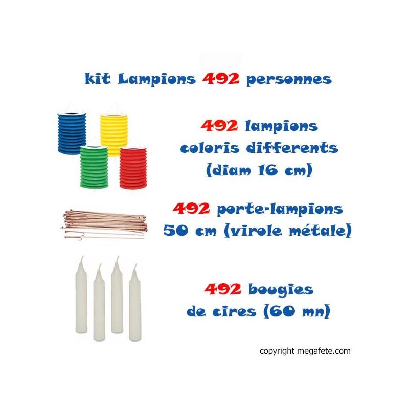 kit lampions 492 personnes multicolores