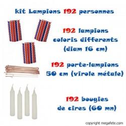 Pack lampions 14 juillet - 192 personnes tricolores